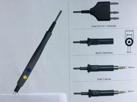 Kétkapcsolós elektródanyél kábellel 3 lábú csatlakozóval Erbe Int./Valleylab