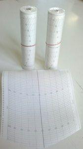 Valorigráf regisztráló papír