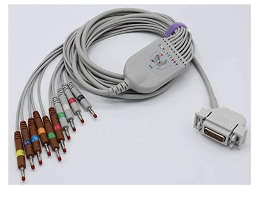EKG páciens kábel Hellige készülékhez, 10 elvezetéses, defivédelemmel